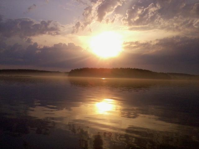 late evening fishing at lake Paloselkä