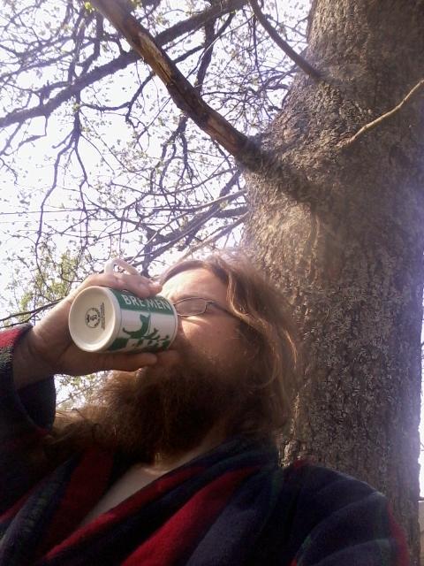 morning coffee under the oak