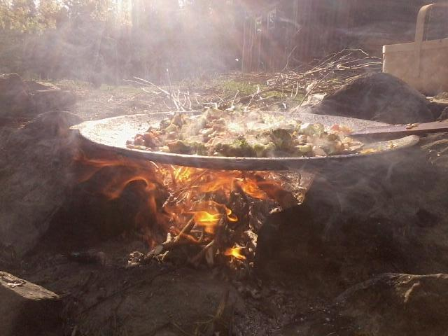 cooking by fire