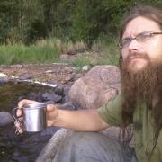 coffee after a morning swim at Lake Paloselkä