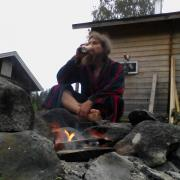 sauna, fire and beer
