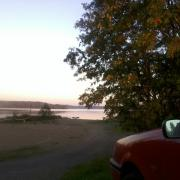 Driving home from Tampere, stopped for an evening swim