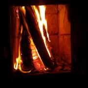 the fireplace in my bedroom