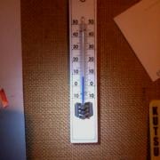 I just came back home after being away for two days. Indoor temperature is +8°C.