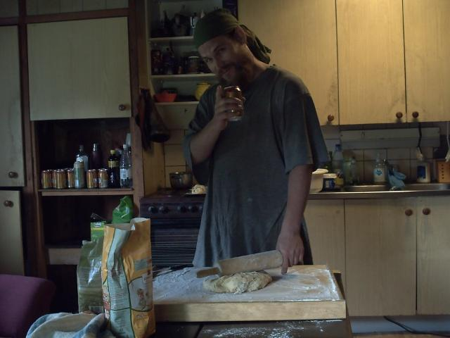 cinnamon rolls in the making