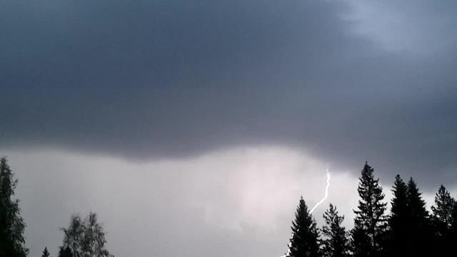 A thunder storm rising