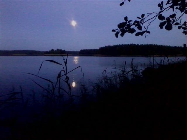 Moon over Lake Paloselkä