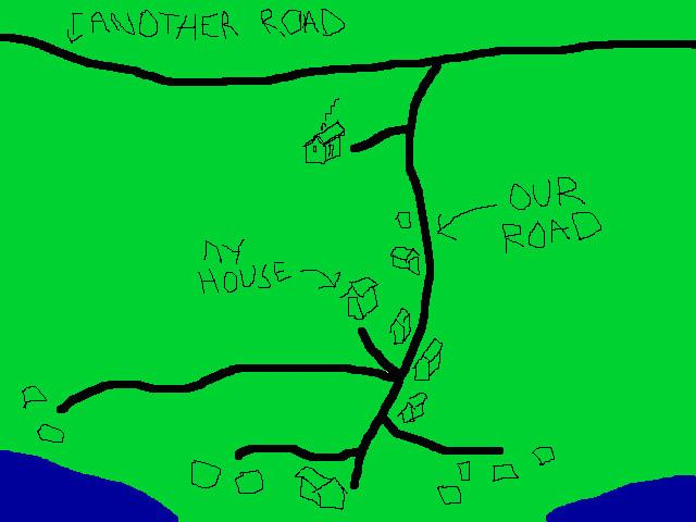 a simplified map of our road