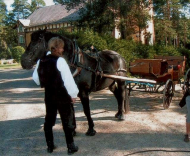 Velmu preparing to pull a wagon