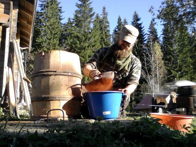 running the pigment through a sieve