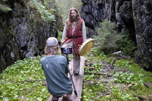 Sami as a camera assistant