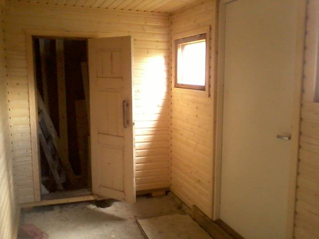 east-facing view. Behind that door is a ladder to upstairs.