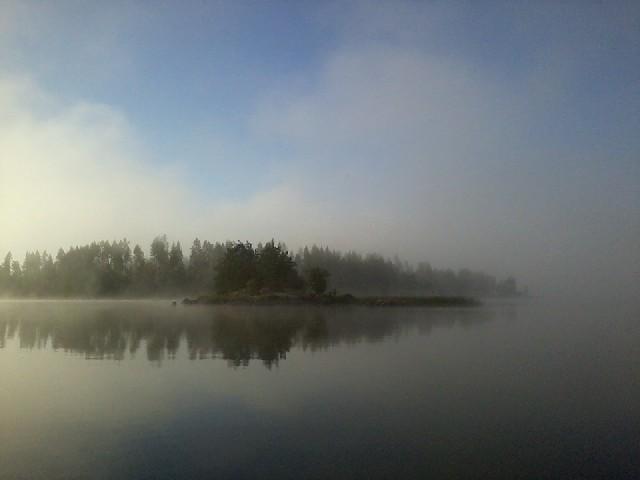 The morning fog dispersing