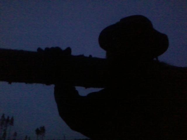 The evening dusk.