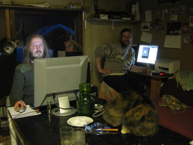 Indie game developers at work