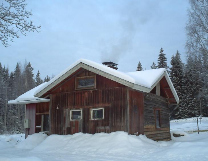 Erkka's house in the wintertime